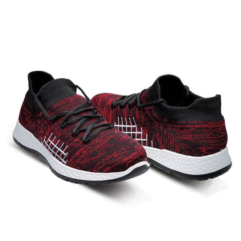 Flair Knit Lace-Up walking shoes